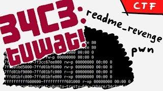 Global variable Buffer Overflow to leak memory - 34C3 CTF readme_revenge (pwn)