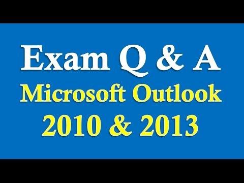 Exam Prep Microsoft Outlook 2010/2013/2016 - YouTube