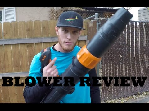 Stihl Blower Review — BR 450 See it in Action!
