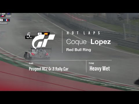 GT HOT LAP - WET Red Bull Ring - Peugeot RCZ Gr.B Rally Car - WT2NC