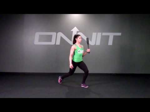 Single Front Ready Rear Lunge Steel Club Exercise