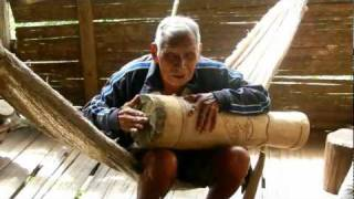 Bribri indigenous elder singing a song in Costa Rica, Central America