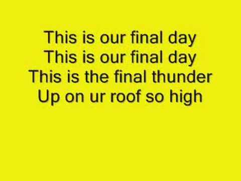 Final Day Lyrics-Tokio Hotel