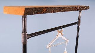 DIY Industrial Pipe Coat Rack