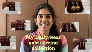 My Daily Wear Gold Earring Collection In Telugu|Simple Gold Earrings|Ramya.