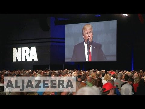 Donald Trump voices support for the NRA at gun lobby convention