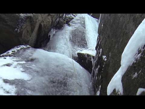 Ice climbing in Jizera Mountains