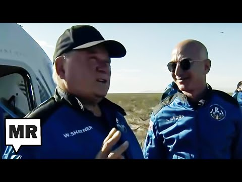 Jeff Bezos Sprays Champagne In Emotional William Shatner's Face After Blue Origin