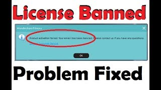 Filmora Banned Email and License problem fixed || Good News for Filmora Users