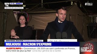 COVID-19 : les annonces d'Emmanuel Macron à Mulhouse