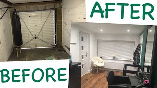 Garage Converted To Hair Salon - Before & After Conversion Video