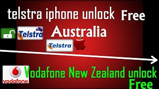 ✔️free unlock Telstra australia -Vodafone New Zealand   2 Degrees Mobile New Zealand