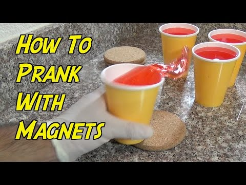 How To Prank With Magnets- CUP SPILL PRANK (Evil Booby Traps) | Nextraker