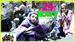 24 Hours In ICE CAVE Exploring Hidden Abandoned Rooms / That YouTub3 Family
