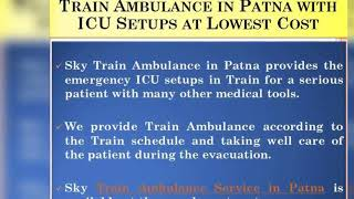 Get Finest Medical Service in Train Ambulance from Delhi
