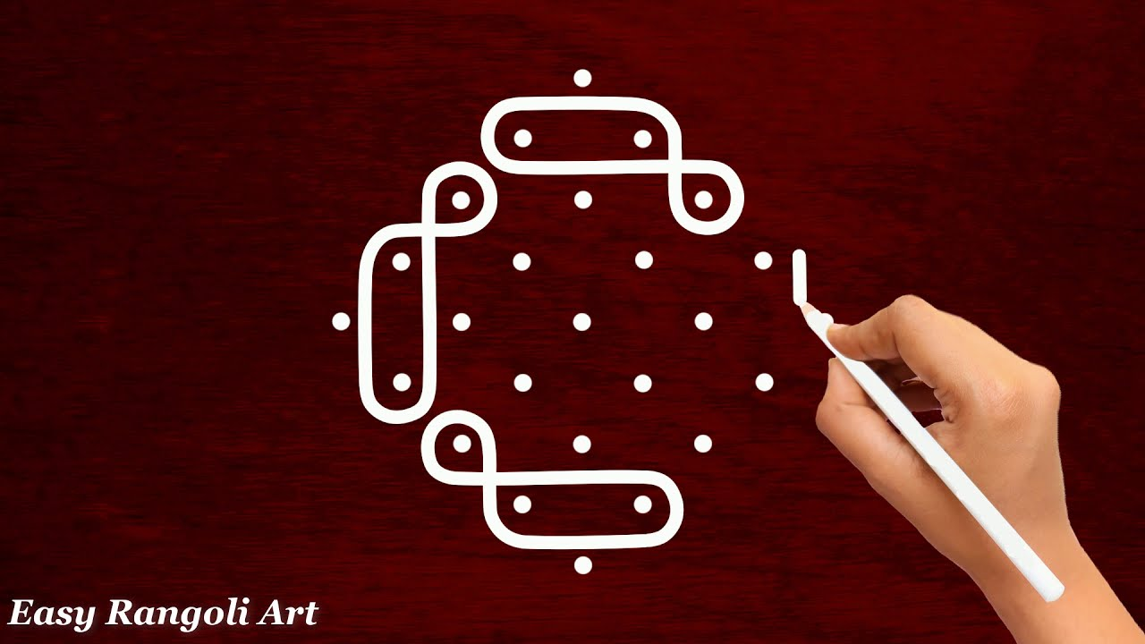 muggulu rangoli design 5*1 dots