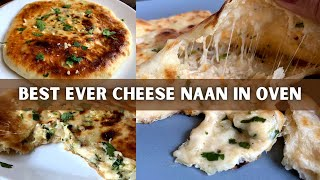 Creamy Cheese Naan Recipe | Restaurant Style Cheese Naan | The Home Maker Baker
