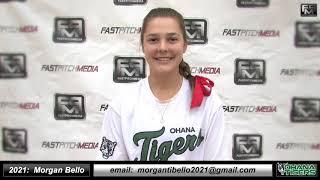 2021 Morgan Bello Catcher and Second Base Softball Skills Video - Ohana Tigers