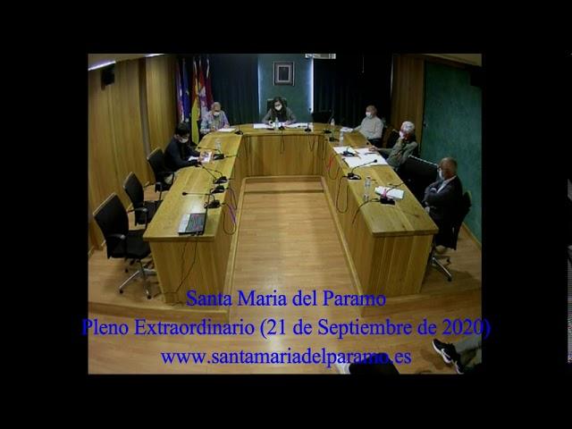 Pleno Extraordinario (21 de septiembre 2020)