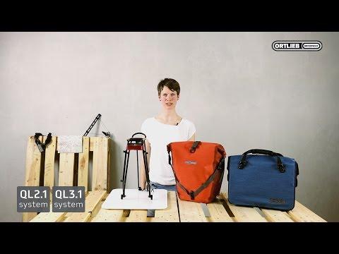 QL2.1 vs. QL3.1 - Wie befestige ich ORTLIEB-Taschen am Fahrrad?