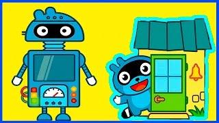 Панго едет к своим друзьям - Мультфильм для детей - Мультик для малышей про Енота Pango