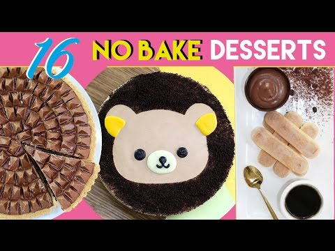 Video NO BAKE DESSERTS - 16 Simple Dessert Recipes - Toblerone Tart, Ferrero Bowls & More