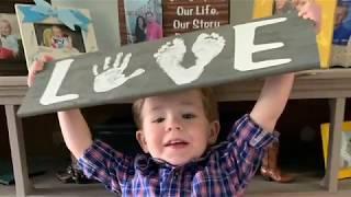 Handprint Footprint Memory LOVE Sign, Kid Craft, Valentines Day Gift, DIY