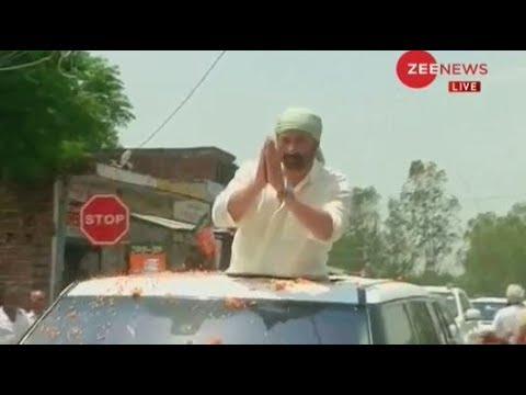 Deshhit: Sunny Deol holds a roadshow in Gurdaspur, Punjab