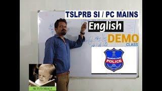#TSLPRB #EnglishForSI/PC English Demo Class For SI/PC - TSLPRB