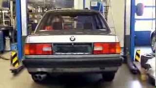 BMW E30 320i mit Supersport Sportauspuff / Sports Exhaust