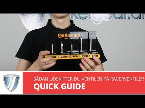Ventil til Presta/racer ventil 1 stk. video