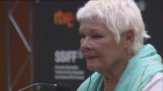 Press Conference Donostia Award Judi Dench ''RED JOAN''