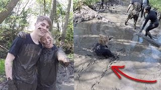 The hardest challenge of my life! GETTING DROWNED AND SWIMMING THROUGH MUD!😱