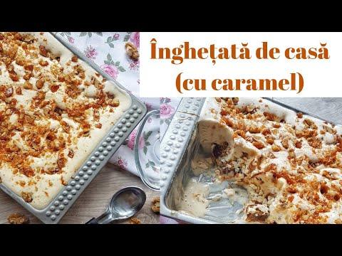 0 Înghețată cu banane prăjite și caramel