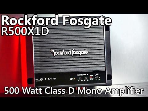 Rockford Fosgate R500X1D 500 Watt Car Amplifier