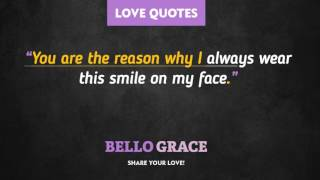 Best Love Quotes - You Are The Reason