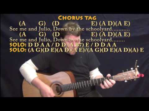 Me and Julio Down By the Schoolyard (Paul Simon) Guitar Cover Lesson ...