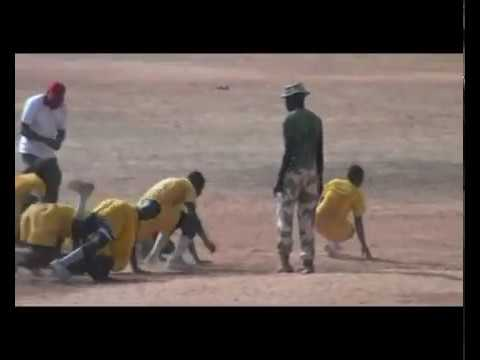 NIGERIA ARMY TRAINING RECRUIT ON UP AND DOWN WORMING UP FOR TRAINING