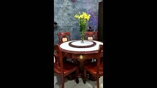 Bộ bàn ăn mặt đá cẩm thạch 0961850774