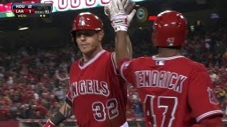 Hamilton's first Angels home run