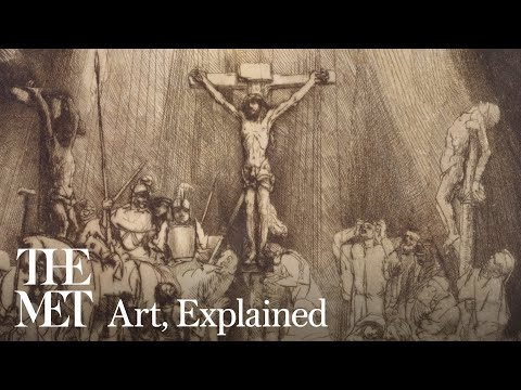 Rembrandt, Christ Crucified Between The Two Thieves: The Three