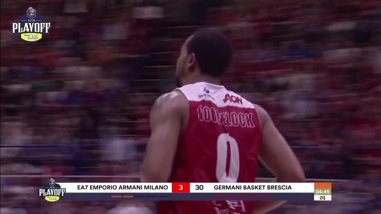 G1 LBA Playoff PosteMobile/ EA7 Emporio Armani Milano - Germani Basket Brescia 82-85