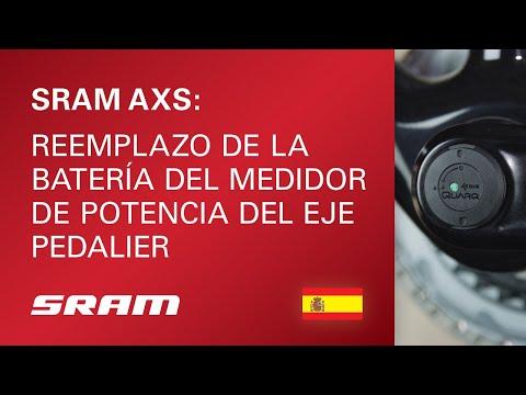 SRAM AXS Reemplazo de la batería del medidor de potencia del eje pedalier