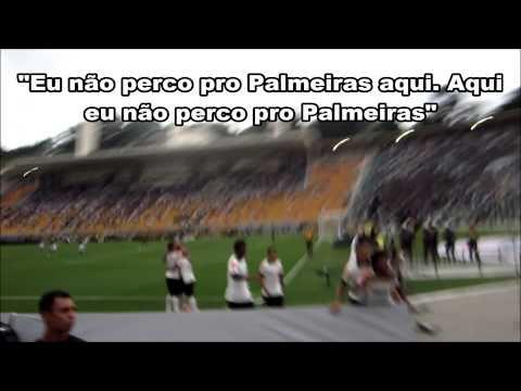 Romarinho corre para a Fiel e diz: 'Eu não perco pro Palmeiras aqui. Aqui eu não perco pro Palmeiras'