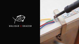 Пайка светодиодной ленты в силиконе