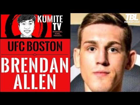 Brendan Allen says Kevin Holland will either run or fall after getting touched