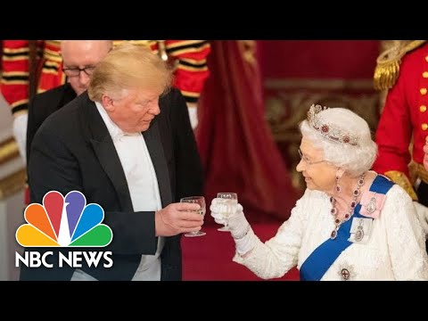 Queen Elizabeth II Toasts To President Donald Trump At Buckingham Palace Dinner | NBC News