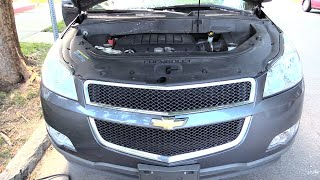 Chevy Traverse/ Buick Enclave 09 -17 Battery Location & How to Jump!