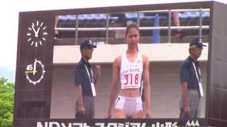 2017 山形インターハイ陸上 女子200m準決勝1~3