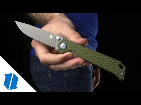"Kizer Vanguard Series Begleiter Knife Green G-10 (3.5"" Gray) V4458A2"